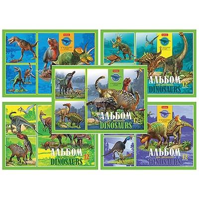 Альбом 12л А4 Hatber 100г/м Эра динозавров 309582/12А4В