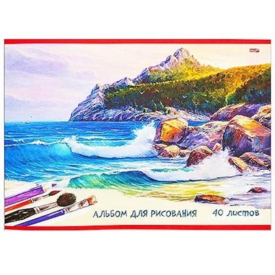 Альбом 40л А4 Проф-Пресс Рисунок океана (80г/м2) 40-5398