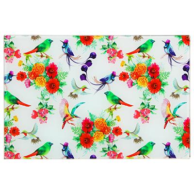 Доска разделочная стекл Vetta Цветы 20*30см 853-203