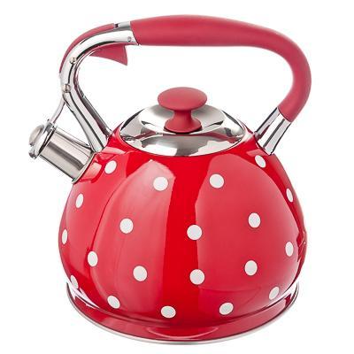 Чайник стальной 3л Горошек Vetta индукция 847-053