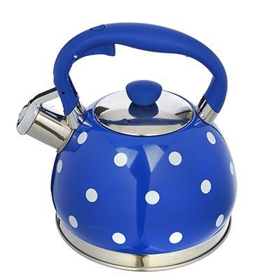 Чайник стальной 2л Горошек синий Vetta индукция 847-063