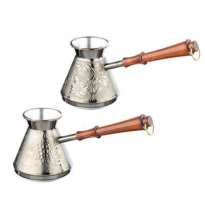 Турка для кофе 640мл, медная, 2 дизайна, арт ПОС63 847-078