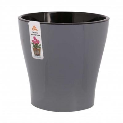 Горшок для цветов Лея 2,2л двойной серый М7934