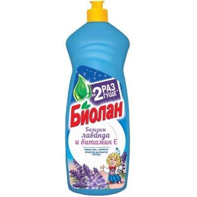 Жидкость для посуды Биолан 900мл Лаванда и Витам Е
