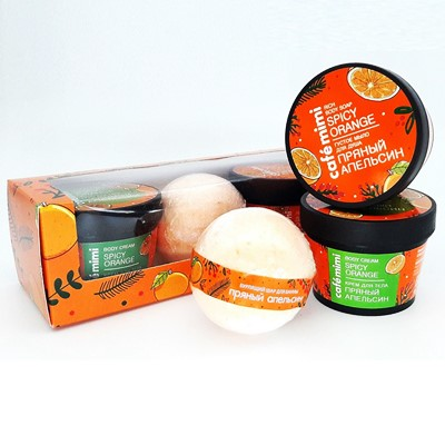 Набор подарочн Cafemimi Пряный апельсин (шар, мыло, крем)