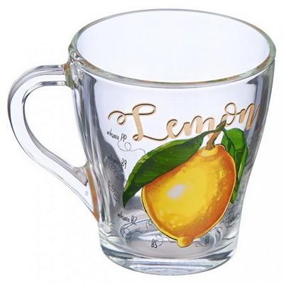 Кружка 250мл Грация стекло Лимон 13с1649