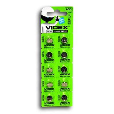 Батарейка таблетка Видекс №6 LR921 цена за 1 шт