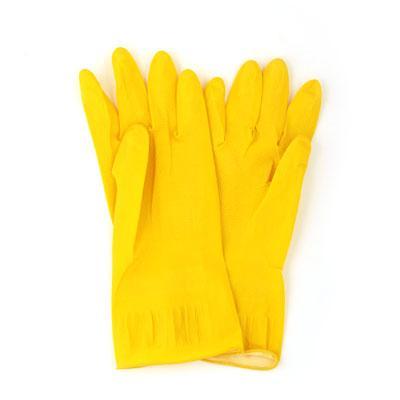 Перчатки резиновые желтые Vetta XL 447-008