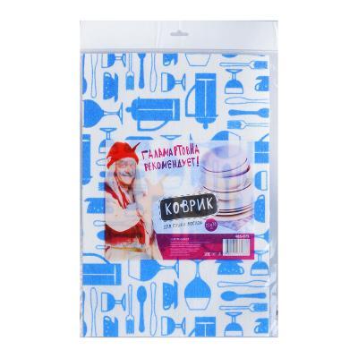 Коврик для сушки посуды, губчатая вискоза 25*38см 485-075