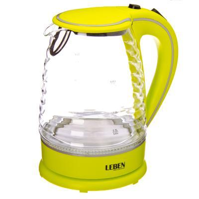 Чайник электр. стекло Leben 1,7л, 1,85кВт, диск. 475-133