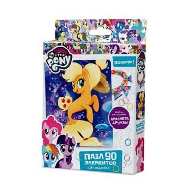 Пазлы 90 эл-в Origami My little pony Эпплджек 17*21см 03412