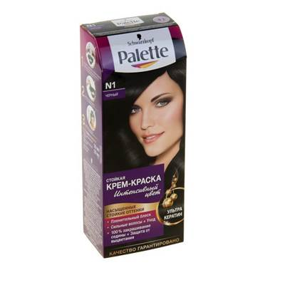 Краска для волос Palette N1 Черный