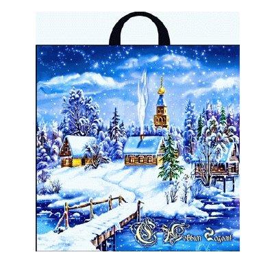 Пакет с петл руч 40*42(50) Интерпак НГ (Снеж Цар) ПТЛ 14607