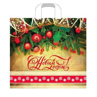 Пакет с петл руч 40*40(100) Артпласт НГ (Новогод) ПТЛ 41661 (25шт)