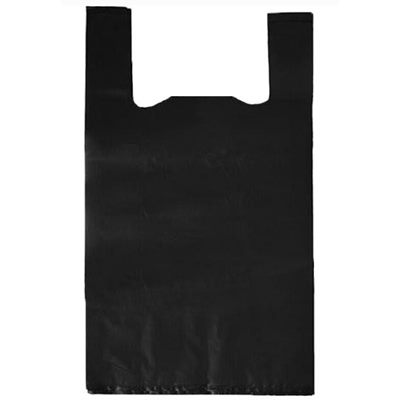 Пакет майка черный, цена за 1шт