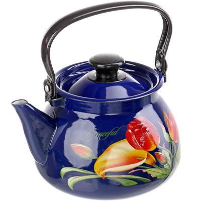 Чайник эмалир 3л сферич Грациозный синий 42115-123/6-У4