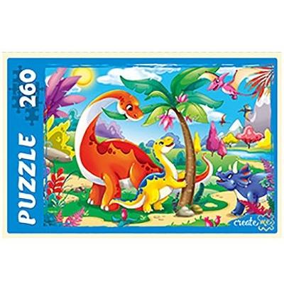 Пазлы 260 эл-в Рыжий кот Динозавры 34*24см П260-5134