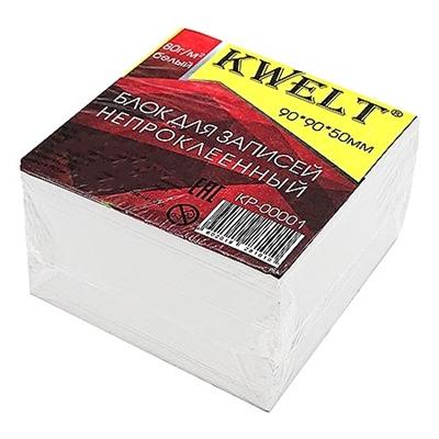 Блок бумаги KWELT 9*9*5см белый 80г/м2 К-00001