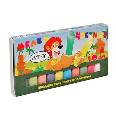 Мел цветной 10шт Алгем НМЦ-10